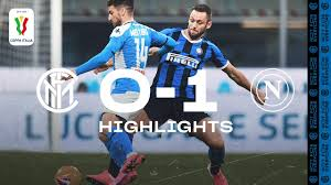 INTER 0-1 NAPOLI | COPPA ITALIA HIGHLIGHTS | The away side win the  first-leg clash 😤⚫🔵 - YouTube