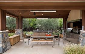 outdoor patios patio contemporary covered. covered patio with teak and steel outdoor dining table chairs patios contemporary e