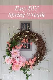 easy spring wreath tutorial