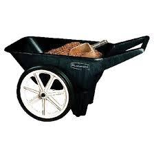 rubbermaid yard cart big wheel 3 5 cu ft capacity black fg565461bla rona