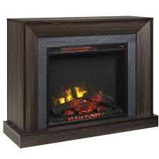 electric fireplace with mantle 5100 btu 1500w walnut 1177fm 23 244 rona