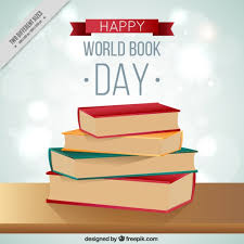 happy world book day books on table ilration