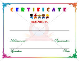 Free Templates For Kids Certificate Template With Children In Winter 1308 525 At Certificate