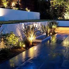 led garden lights and lighting garden