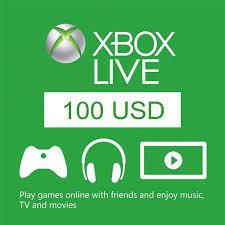 Microsoft Giftcard Xbox Live Gift Card 100 Usd