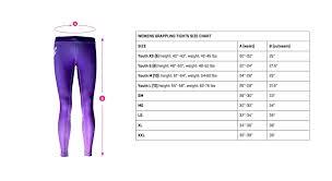 Tights Size Chart Size Charts Cruz Cmbt