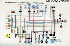 tech series kawasaki kz650 wiring diagrams phscollectorcarworld 1977 kz650 wiring harness the above chart covers the north american b1 bikes for united states and canada a nice feature here is the wires and elements are in color for easier
