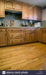 Oak Kitchen Cabinets Stock Photos Oak Kitchen Cabinets Stock