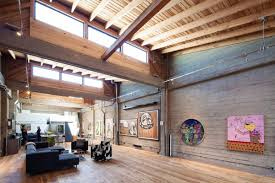 loft art. living space, high ceilings, art, sf loft in san francisco, california by wardell + sagan projekt art d