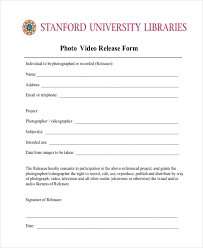 Free 11 Sample Video Release Forms In Pdf Doc