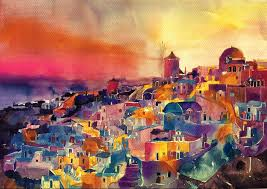 architectural watercolor paintings by maja wronska 06