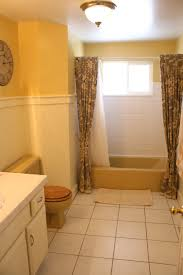 Yellow Bathroom Mustard Yellow Tub And Toilet Updated Bathroom