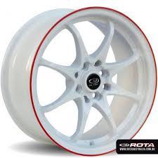 rota wheels 4x100. rota dpt 16x7 4x100/4x114.3 white with red lip set of 4 wheels 4x100 y