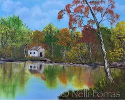 viewer nelli forras recently received oil paints for her birthday and has been painting along