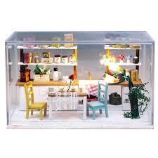 modern dolls house furniture. dream kitchen wooden doll house miniature diy assemble dollhouse furniture houses with led lights modern dolls n