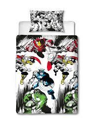 marvel comics crop single duvet cover set front