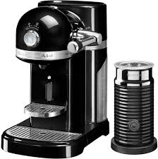 kitchenaid nespresso artisan coffee machine aeroccino onyx black 5kes0504bob