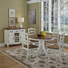 The French Countryside Oak And Rubbed White 5pc Dining Set Walmartcom
