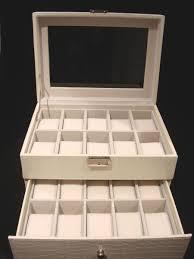 20 white watch storage display box sw 1683w £60 00 4himonly 20 white watch storage display box