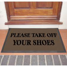 Nice Take Your Shoes Off Doormat Please Take Off Your Shoes Door ...