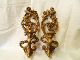 old home interior sconces. vintage homco gold gilded mirrored candle holder wall sconces-hollywood regency style-retro paris chic-smokey mirror- smoked mirror-ornate   pinterest old home interior sconces r