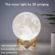 22% Off | <b>ZK20 LED Night Light</b> 3D Print Moon Lamp Rechargeable ...