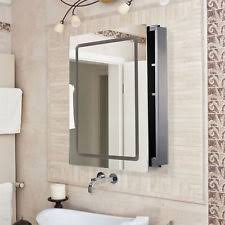 Illuminated cabinets modern bathroom mirrors Design Ideas Homcom Led Cabinet Mirror Modern Bathroom Sliding Door Illuminated Silver Ebay Illuminated Bathroom Mirror Cabinet Ebay