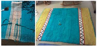 gail shared a successful mending project her rug made of polar fleece strips on latch hook