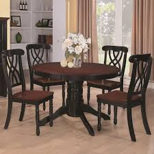 dining table price in usa. coaster addison round dining table in black and cherry - 103700 lowest price online on all usa