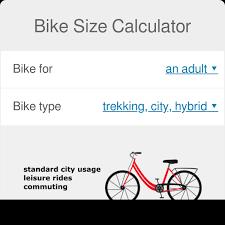 bike size calculator find perfect size