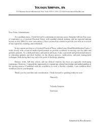 Cover Letter Example Nursing Jobs Sample Rn Cover Letters Sample New Grad Cover Letter Picture