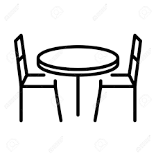 Chair Table Food Drink Vector Icon