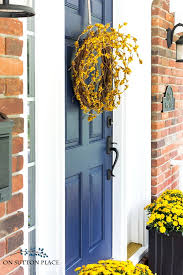 diy front door fall wreath fast easy easy diy front door wreath you