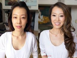 ambrozia korean bridal makeup before and after