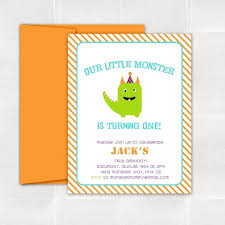 Lil Monster Birthday Invitations Custom Little Monster Party Invitations By Elle Bean Custommade Com