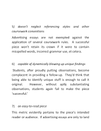 what it takes to have successful advertising essays 4
