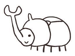 カブトムシのイラスト虫 ゆるかわいい無料イラスト素材集