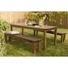 Salon De Jardin En Bois Table Ronde De Jardin Maisonjoffrois