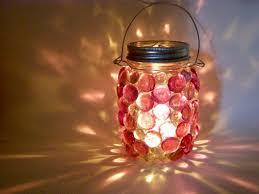 lighting jar. MasonJarLight_ColoredStones Lighting Jar