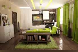White And Green Living Room Green And Brown Living Room Interior Design Tan Wooden Laminate