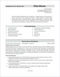 Administrative Assistant Resume Template Cover Letter Resume Sample