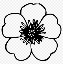 big petal flower coloring pages flower petal pattern flower black and white