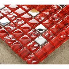 out of stocks dark red glass tile mirror tiles pink decorative stainless steel mosaic tile mirrored frame