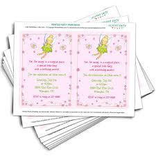 Tinkerbell Invitations Printable Printable Tinkerbell Inspired Invitation Template