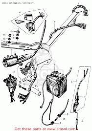 Honda cm91 1966 usa wire harness battery schematic partsfiche