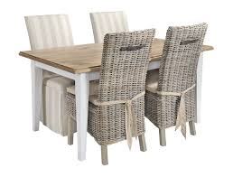outdoor rattan dining chairs alluring wood top table and rattan dining chairs in rustic small