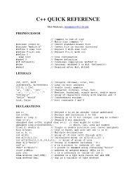 C Cheat Sheet Method Computer Programming Subroutine