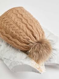 "<b>Wool</b> and fur <b>hat</b>, <b>camel</b> - ""OLIMPO"" Max Mara"
