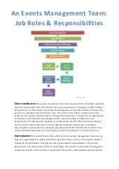 Duties Of An Event Planner Events Management Team Job Roles
