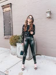 dress up leather pants outfit